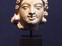 stucco head bodhisattva